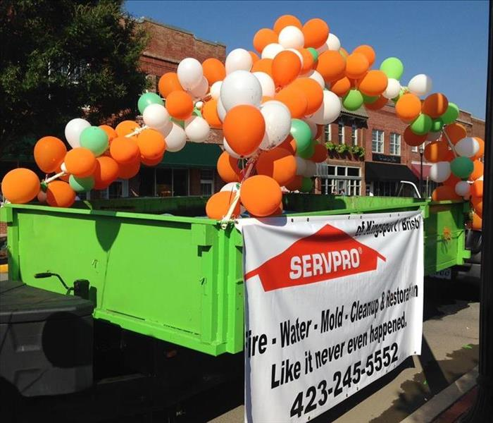 SERVPRO of Kingsport/Bristol loves a parade!