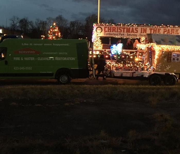 SERVPRO participates in the Bristol Christmas Parade